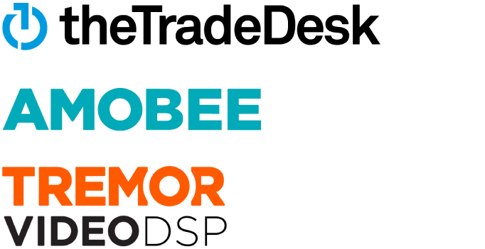 The Tradedesk, amobee, tremor video dsp